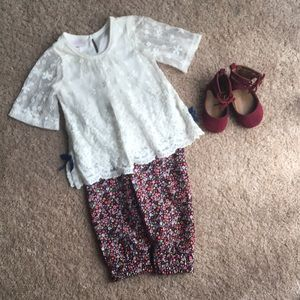 Bonnie baby two piece outfit & old navy baby shoes